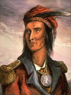 The great Shawnee leader Tecumseh